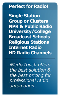 iMediaTouch Radio Automation - Perfect for all Broadcasters